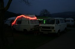 Lichterketten an VW T3