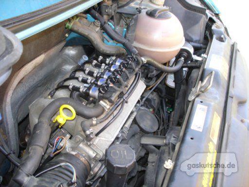 Motor: 2.5 l Benziner (ACU) LPG-Umrüstung durch: AGS Autogas, Dorsten 04/07. Kosten: 2545 Euro Anlage: Prins VSI (vollsequentiell) Tank: 95 l (ca.
